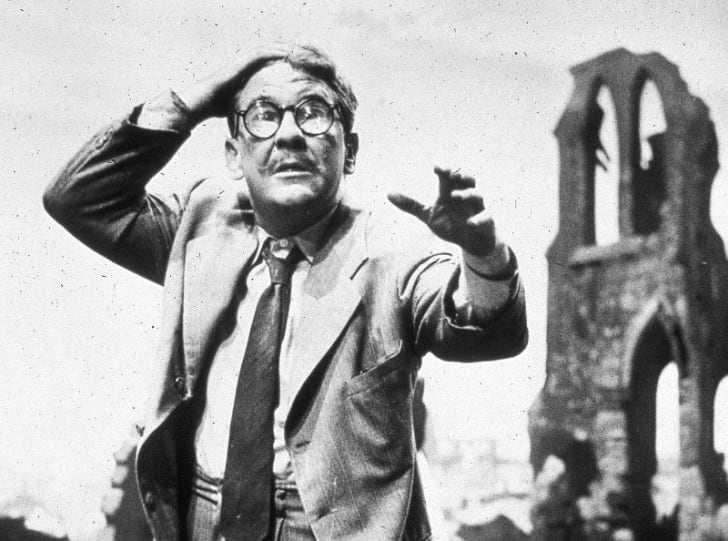 Burgess Meredith is pictured in a publicity still for 'The Twilight Zone' episode 'Time Enough at Last' in 1959