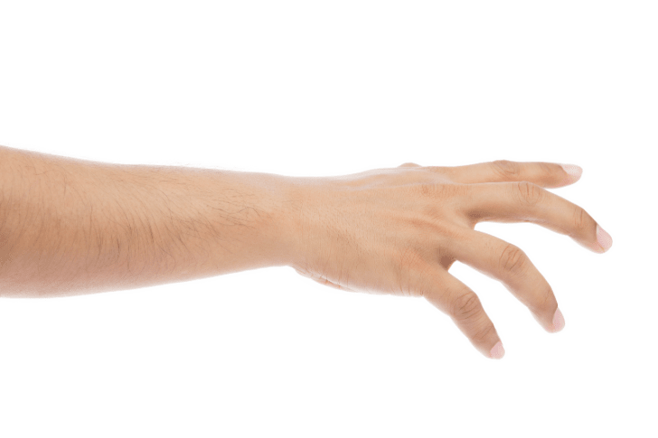A hand is pictured