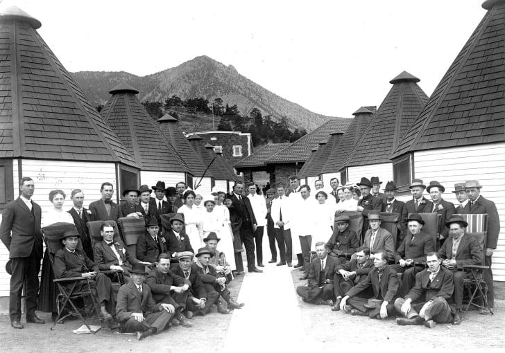 Patients at a tuberculosis sanatorium