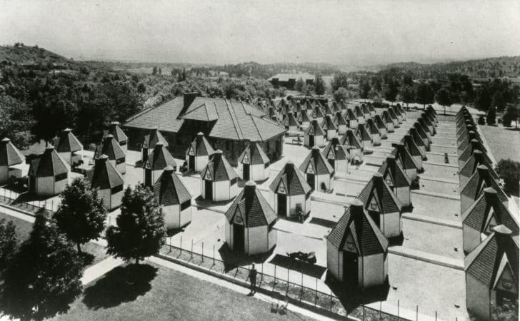 Tuberculosis tents at a sanatorium