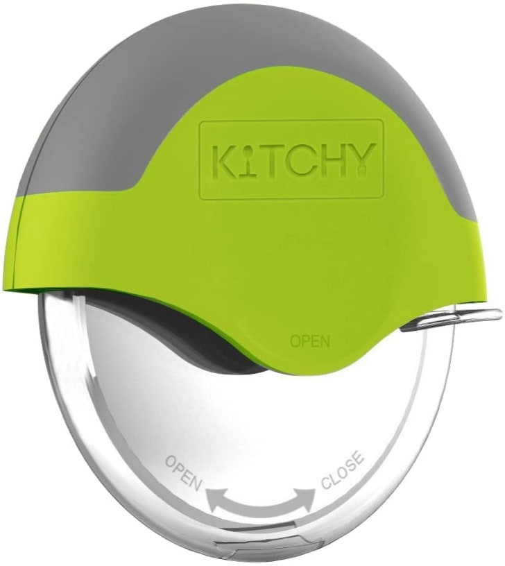 A Kitchy pizza cutter.