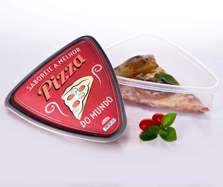 Pizza slice holders that are available on Amazon.