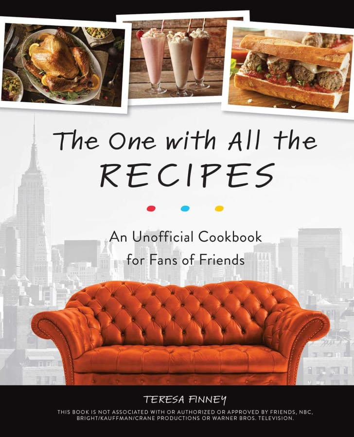 A cookbook with recipes from the show 'Friends.'