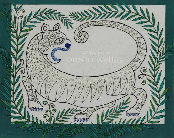 Original title card used in production of Rikki Tikki Tavi