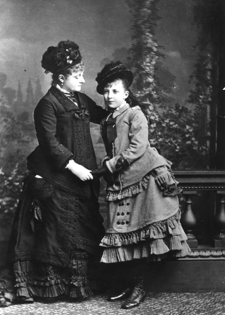 A mother with her adolescent daughter