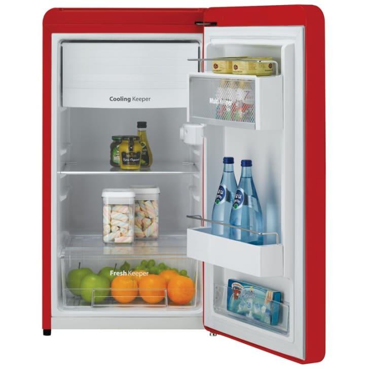 A mini fridge that's available on Wayfair.