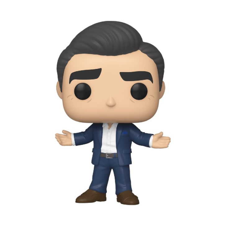 A 'Schitt's Creek' Johnny Rose Funko Pop! figure is pictured