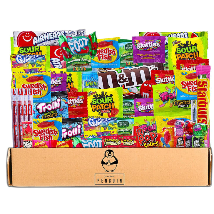 A box of candy that's available on Amazon.