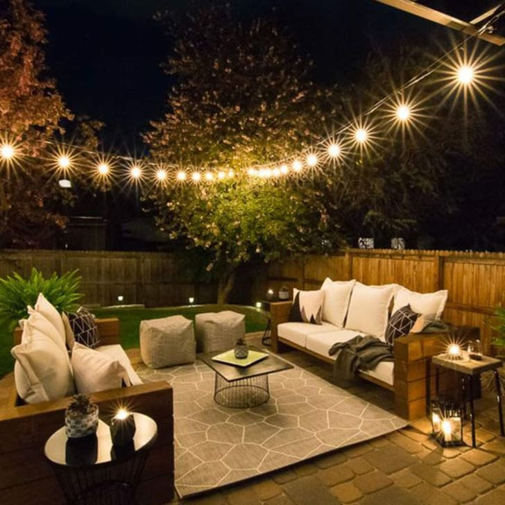 Backyard lights that you can find on Amazon.