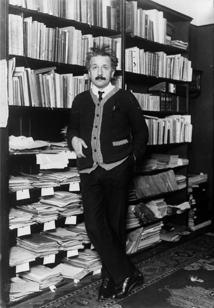 albert einstein at home circa 1925