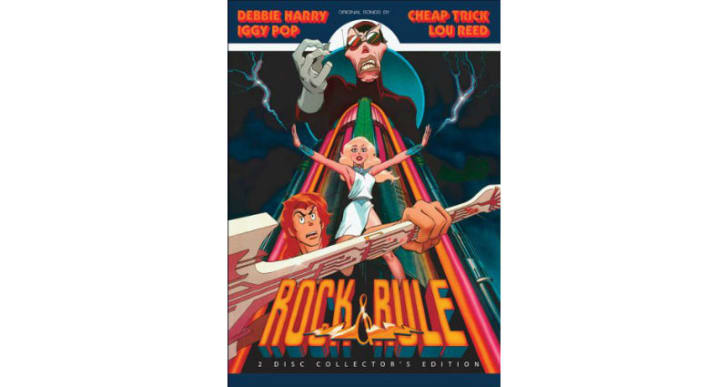 The 'Rock & Rule' DVD is pictured