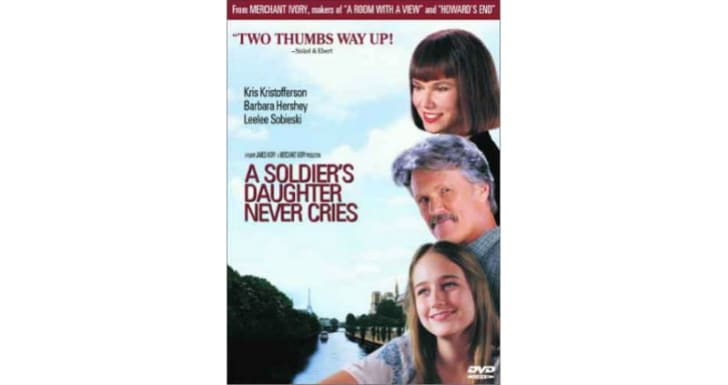 The 'A Soldier's Daughter Never Cries' DVD is pictured