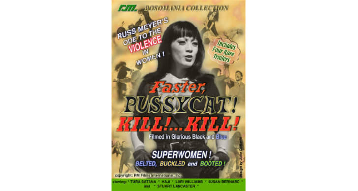 The 'Faster, Pussycat! Kill! Kill!' DVD is pictured