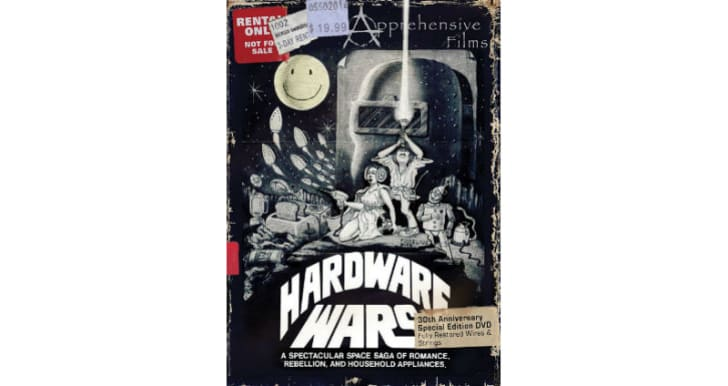 The 'Hardware Wars' DVD is pictured