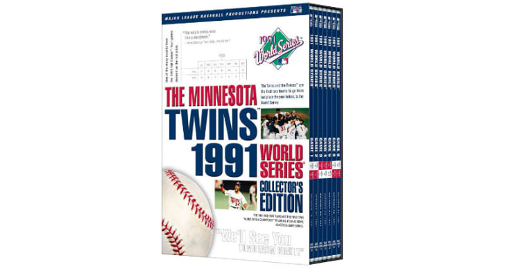 'The Minnesota Twins 1991 World Series Collector's Edition' DVD is pictured