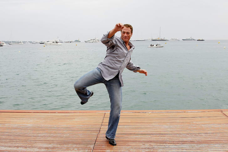 Actor Jean Claude Van Damme attends the Jean Claude Van Damme Photocall at the Majestic Beach during the 61st International Cannes Film Festival on May 17 , 2008 in Cannes, France.