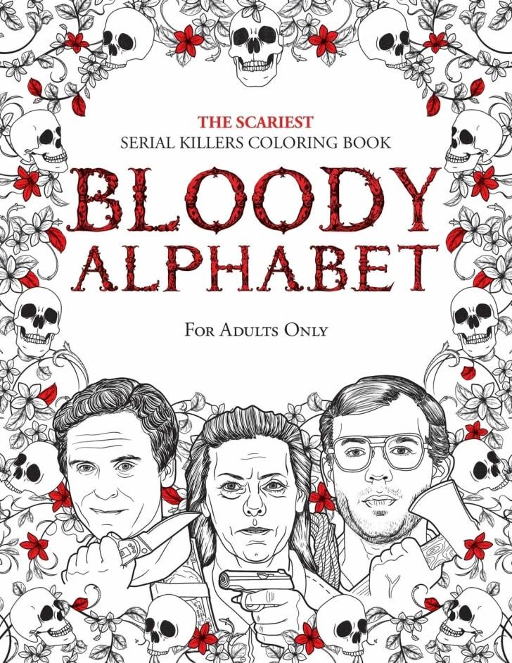 Serial killer adult coloring book.