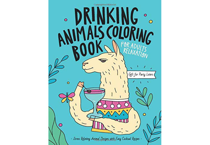 Drinking Animals Coloring Book on Amazon.