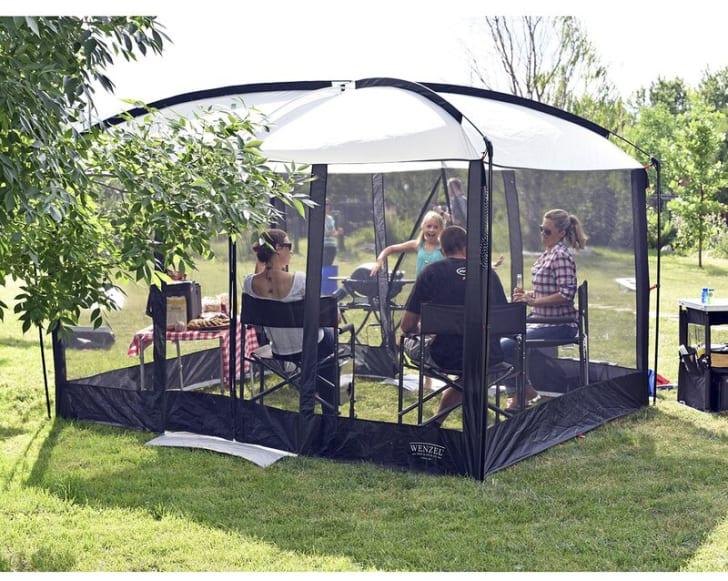 A magnetic door house tent on Wayfair.