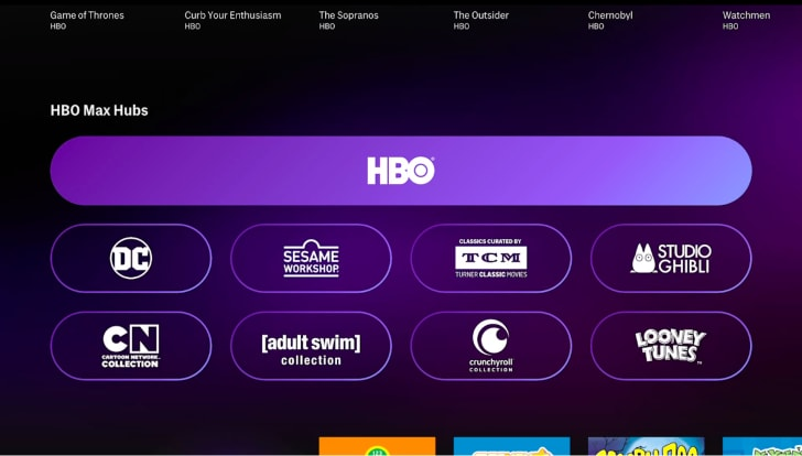 hbo max channel hubs