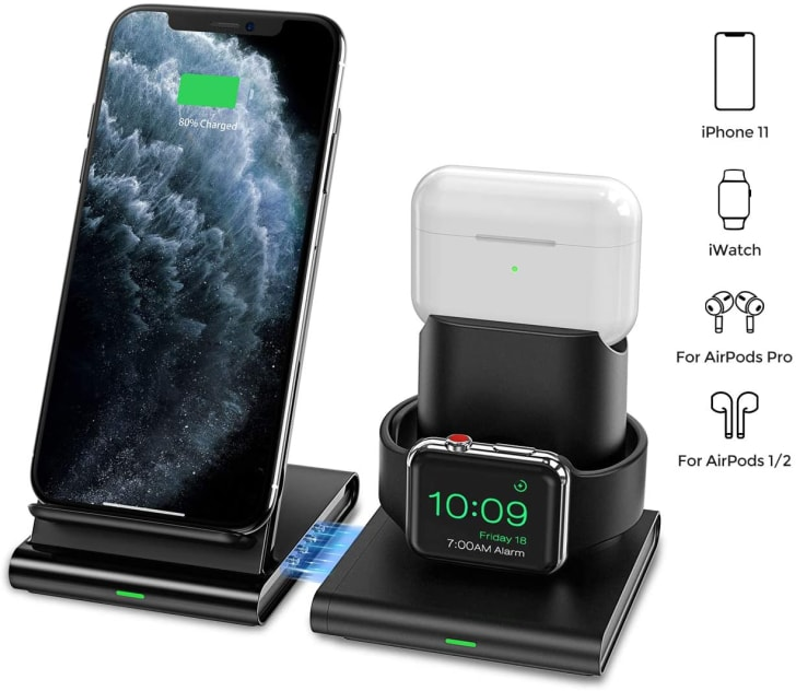 A wireless charging station