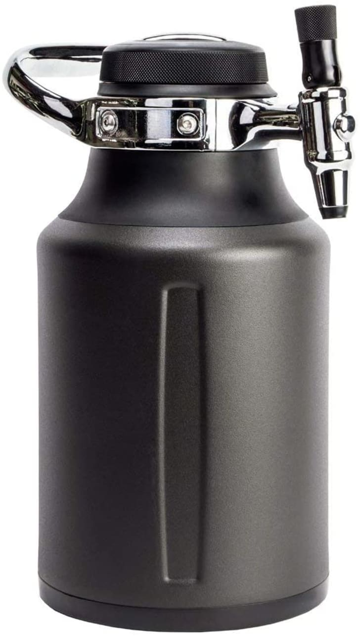 A growler keg that's available on Amazon.