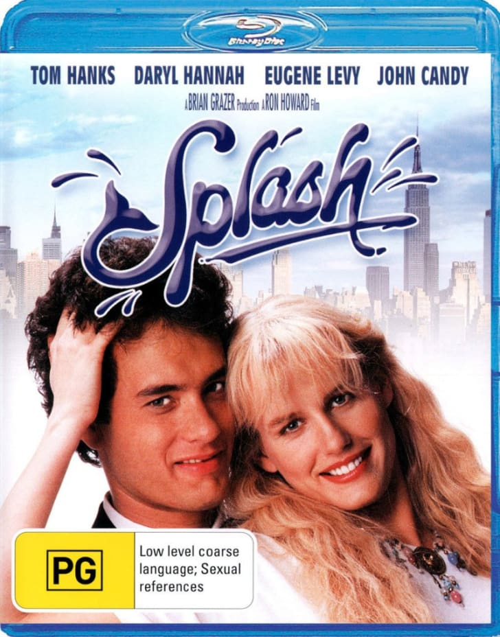 The 'Splash' Blu-ray is pictured