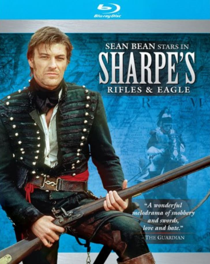 The 'Sharpe's Rifles & Eagle' Blu-ray is pictured