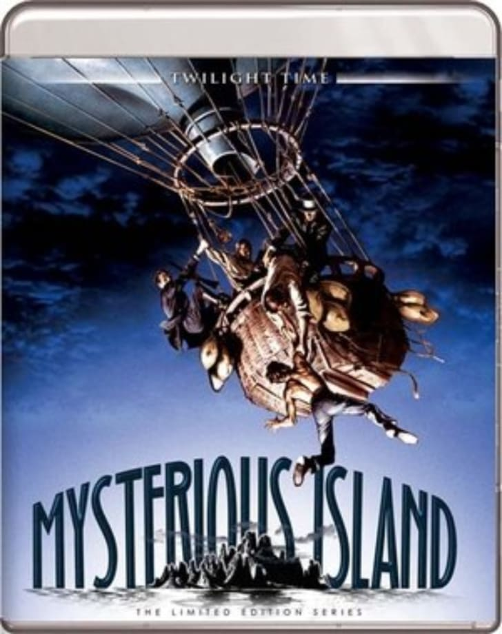 The 'Mysterious Island' Blu-ray is pictured