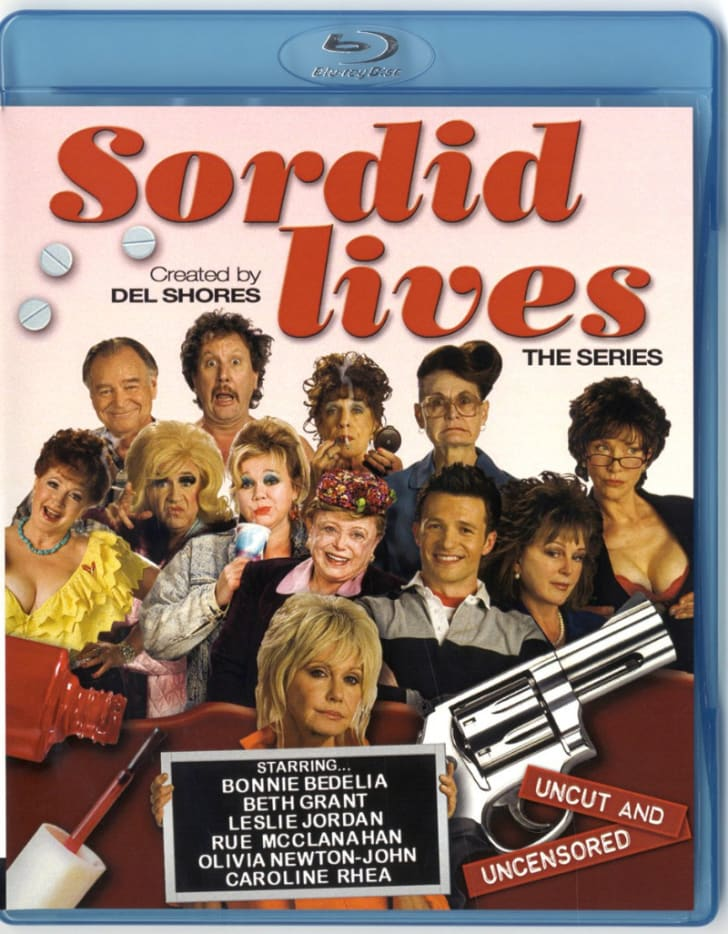The 'Sordid Lives: The Series' Blu-ray is pictured