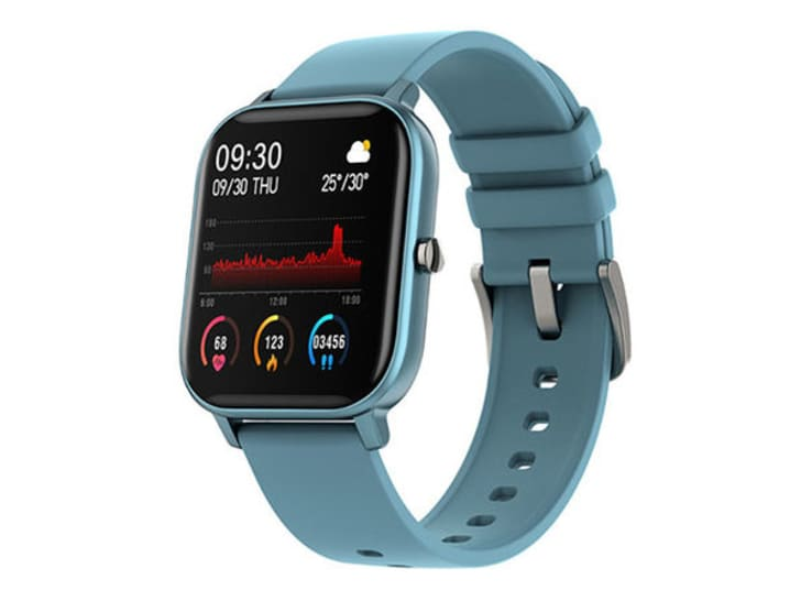 Blue fitness tracker