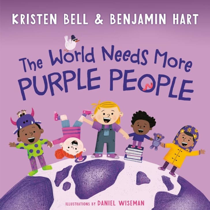 Book cover of Kristen Bell and Benjamin Hart's 'The World Needs More Purple People'