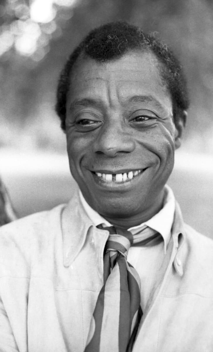 James Baldwin taken in Hyde Park, London