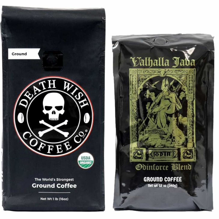 Death Wish Coffee on Amazon.