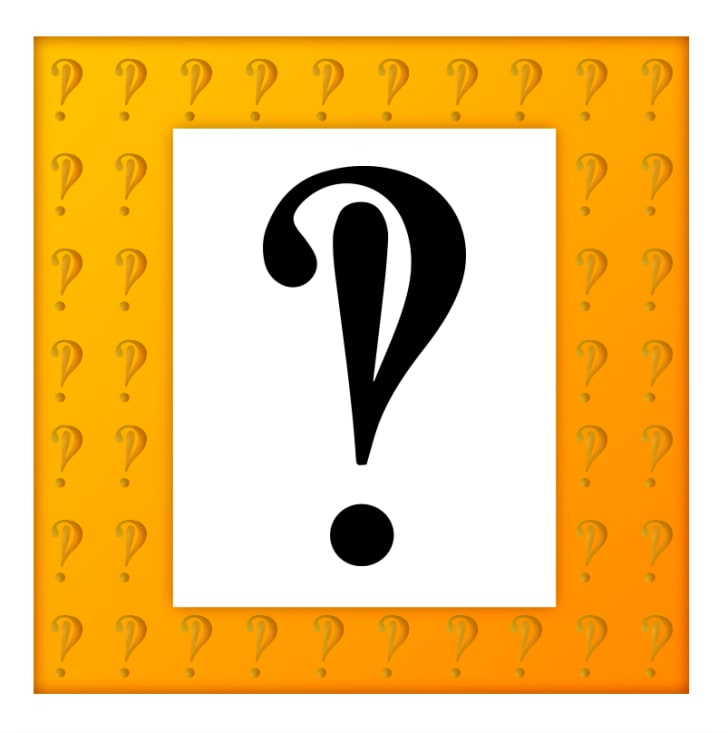 An illustration of an interrobang, a question mark and exclamation mark sharing a point