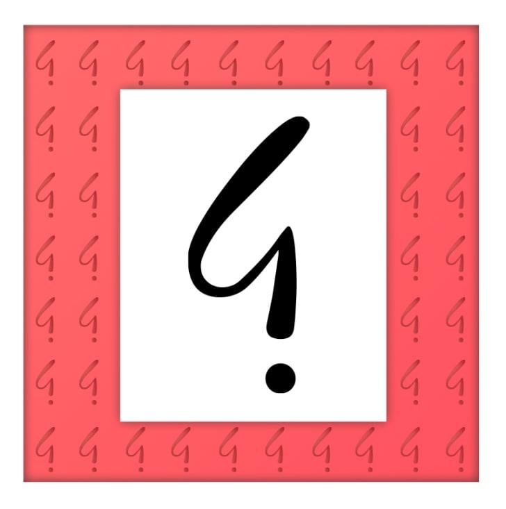 "Alcanter de Brahm's irony mark, a ""whip-like"" version of the backwards question mark"