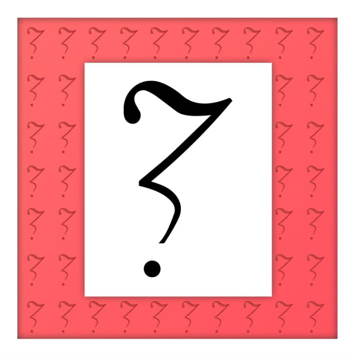 The doubt point, which looks like a cross between a Z and a question mark.