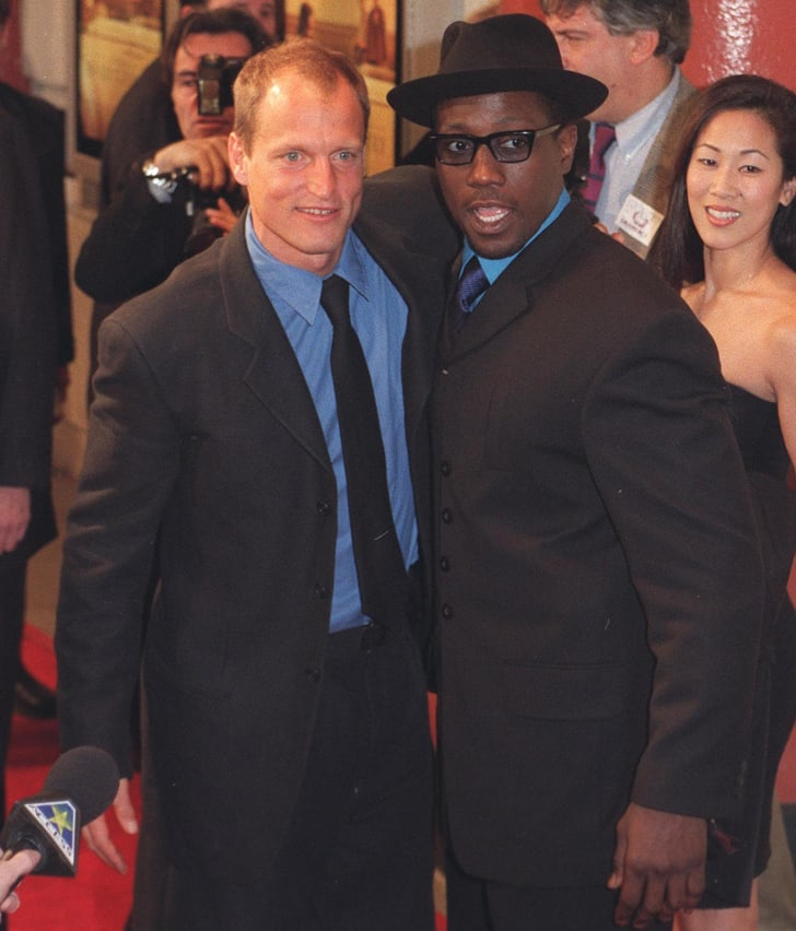 Wesley Snipes and Woody Harrelson at the 1998 premiere of 'The Hi-Lo Country.'