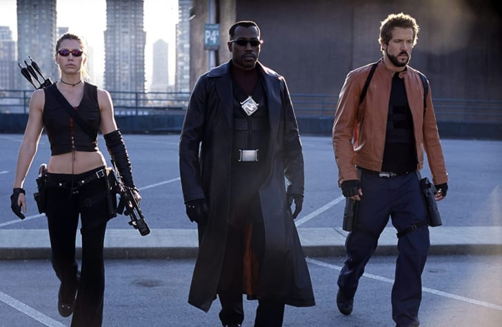 Wesley Snipes, Jessica Biel, and Ryan Reynolds in Blade: Trinity (2004)