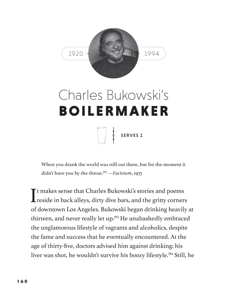charles bukowski boilermaker recipe from how to drink like a writer book