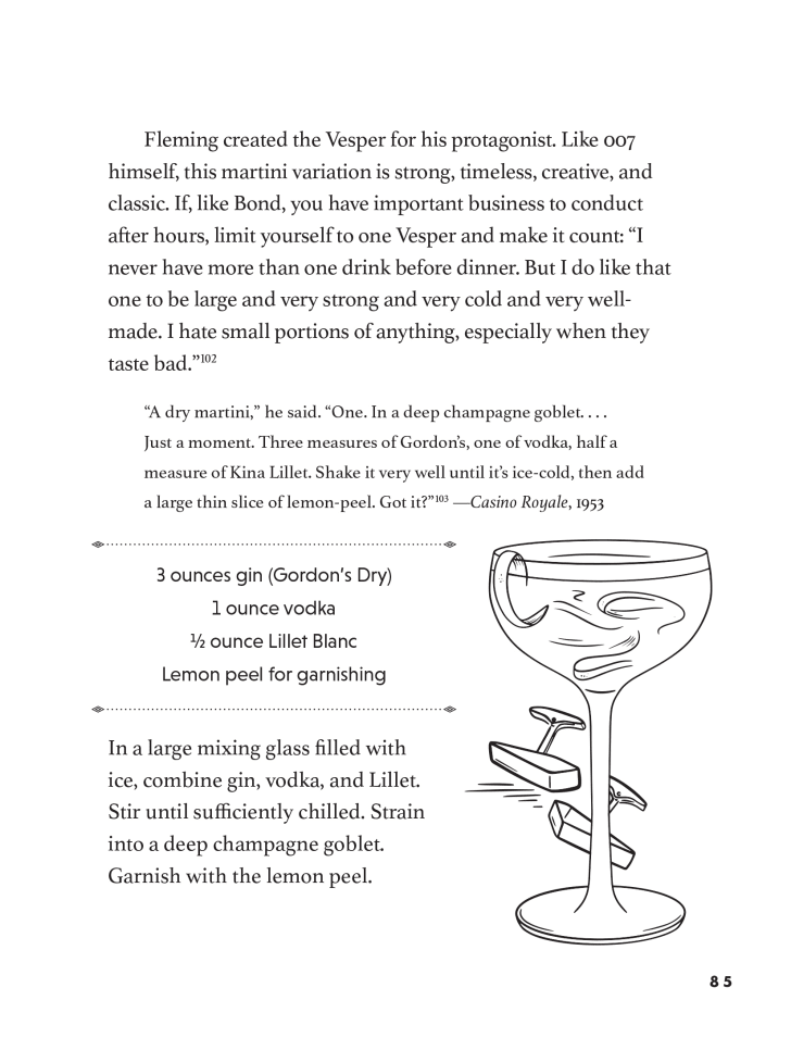 ian fleming's vesper martini from how to drink like a writer book