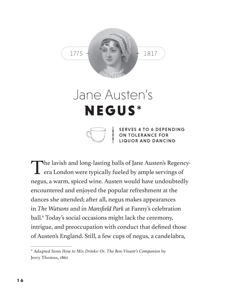 jane austen's negus from how to drink like a writer book