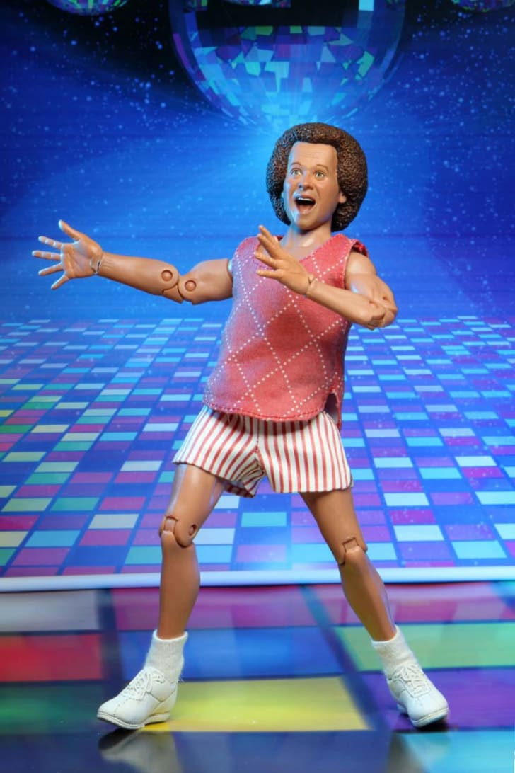 A Richard Simmons action figure made by NECA is pictured