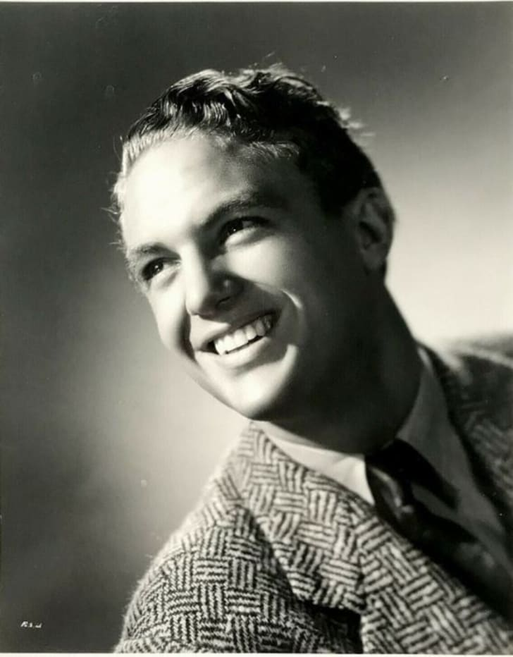 Actor Robert Stack is pictured in a 1940 publicity photo