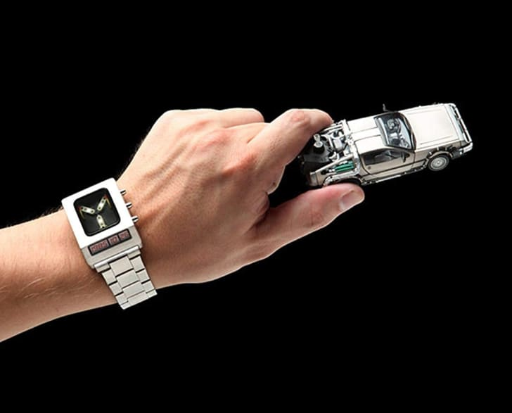A Flux Capacitor wrist watch