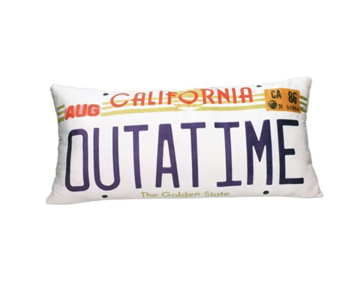 A 'Back to the Future' pillow.