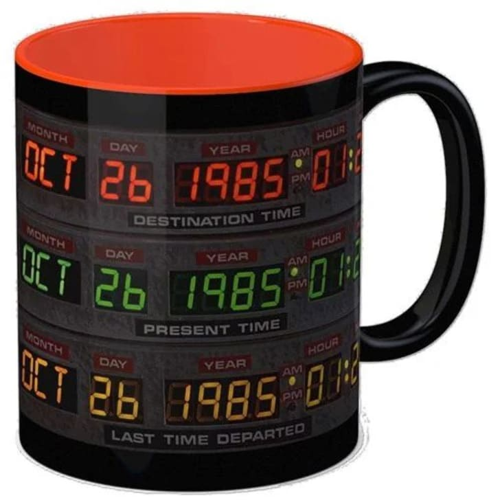 A 'Back to the Future' mug