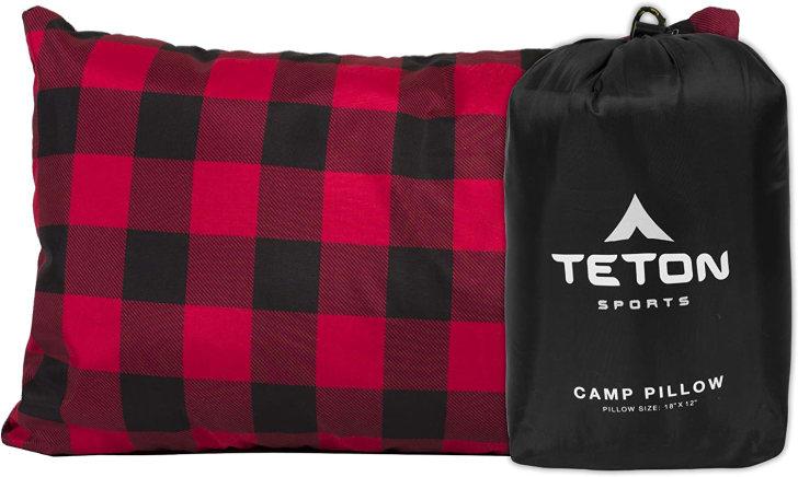 Camping pillow.