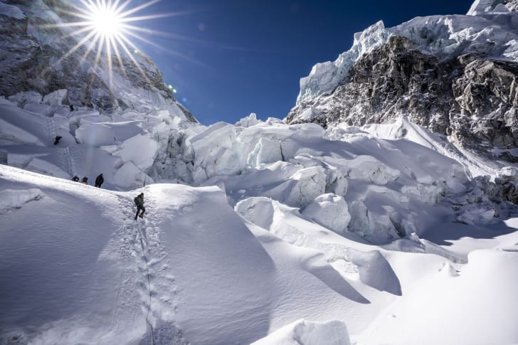 Climbers on Mount Everest