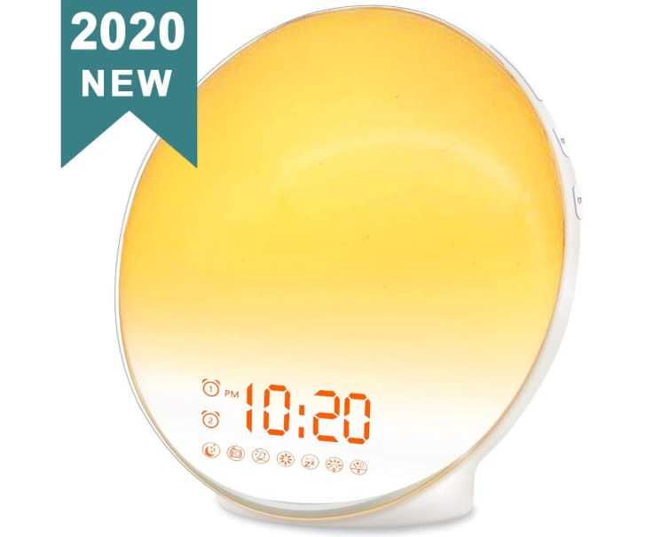 JALL Wake Up Light Sunrise Alarm Clock